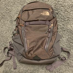[NWOT] North Face Surge Backpack Luxe Rose Gold!